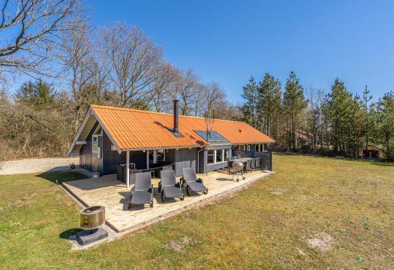 Nichtraucherferienhaus mit Whirlpool und Sauna in Houstrup