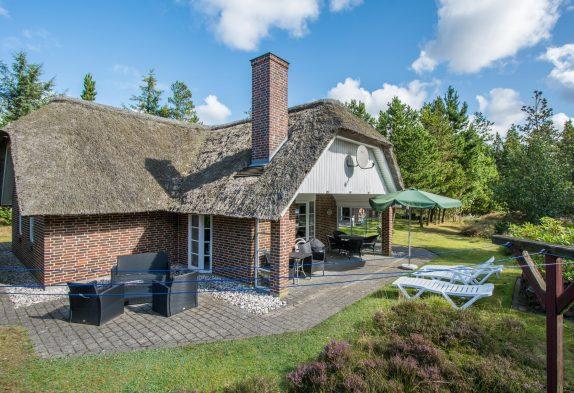 Reetdachhaus mit Sauna, Whirlpool und Ladestation für Elektroauto