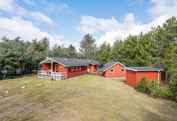 Gemütliches Ferienhaus mit Kaminofen und überdachter Terrasse