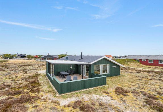 Ferienhaus mit Panoramablick, in den Dünen und dicht am Meer