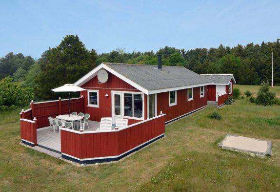 Kleines und billiges Ferienhaus mit großer Terrasse