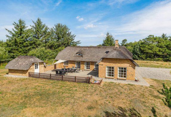 Reetdachhaus in Vester Husby /Fjand mit Sauna, Whirlpool und großem Garten