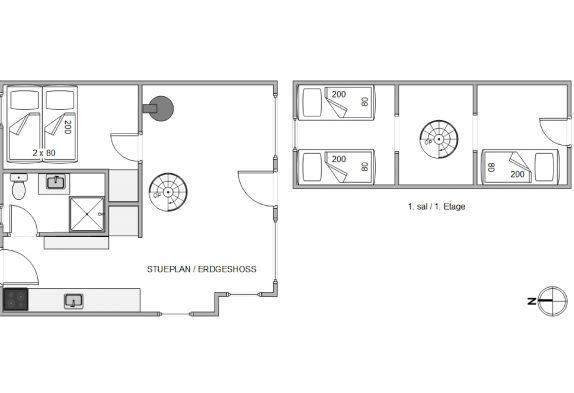 Kleines und gemütliches Reetdachhaus für 4 Personen